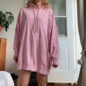 Zara oversized pink sweater dress